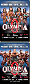 2012 Mr. Olympia & Women's Olympia - 2 DVD Set (US$69.95; A$79.95)