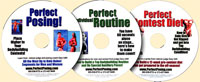 PERFECT series of 3 DVDs Posing, Routine, Contest Diet (Dual Price US$84.95 or A$99.95)