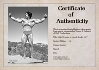 Certificate of Authenticity - Mentzer Poster